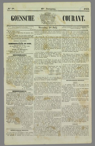 Goessche Courant 1862-07-28