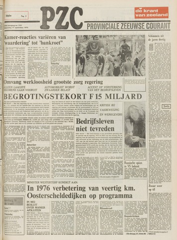 Provinciale Zeeuwse Courant 1975-09-17