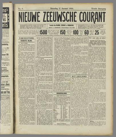Nieuwe Zeeuwsche Courant 1914-01-17