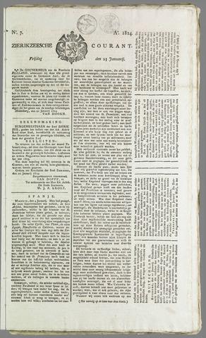 Zierikzeesche Courant 1824-01-23