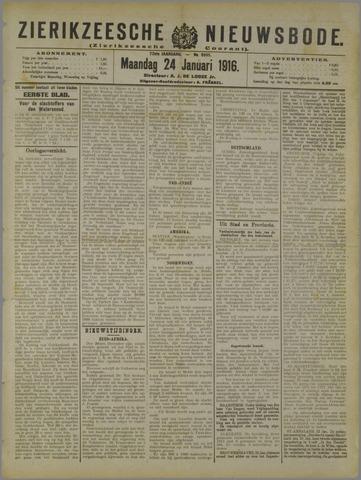 Zierikzeesche Nieuwsbode 1916-01-24