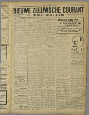 Nieuwe Zeeuwsche Courant 1921-01-07