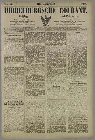Middelburgsche Courant 1888-02-24
