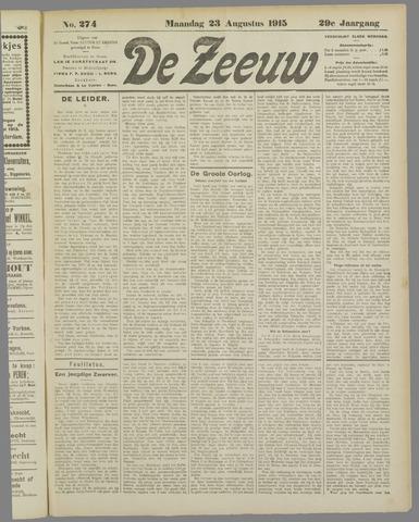 De Zeeuw. Christelijk-historisch nieuwsblad voor Zeeland 1915-08-23