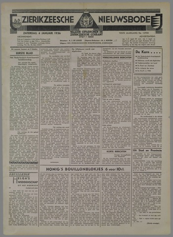 Zierikzeesche Nieuwsbode 1936-01-04