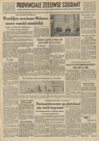 Provinciale Zeeuwse Courant 1954-02-11