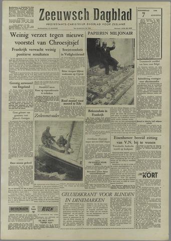 Zeeuwsch Dagblad 1958-08-07
