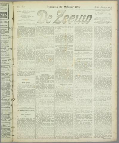 De Zeeuw. Christelijk-historisch nieuwsblad voor Zeeland 1919-10-27