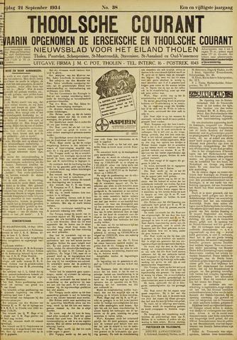 Ierseksche en Thoolsche Courant 1934-09-21