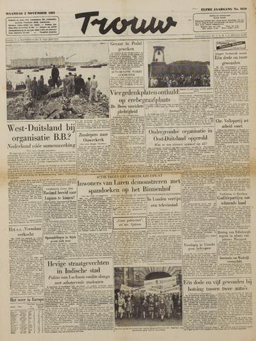 Watersnood documentatie 1953 - kranten 1953-11-02