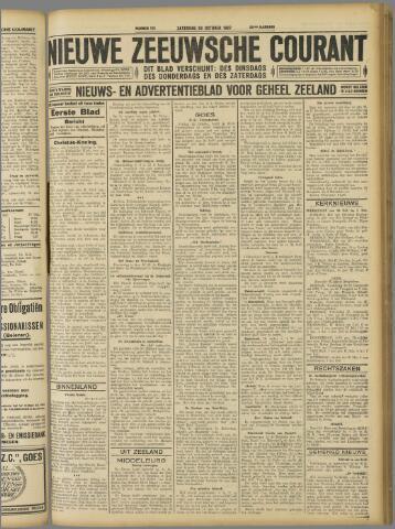 Nieuwe Zeeuwsche Courant 1927-10-29
