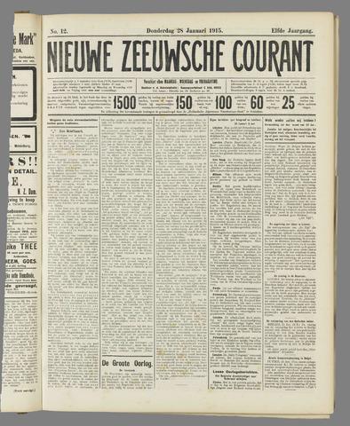 Nieuwe Zeeuwsche Courant 1915-01-28