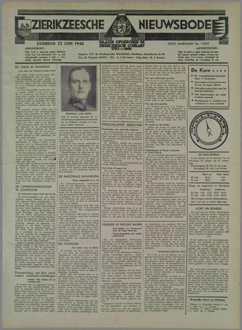 Zierikzeesche Nieuwsbode 1940-06-22
