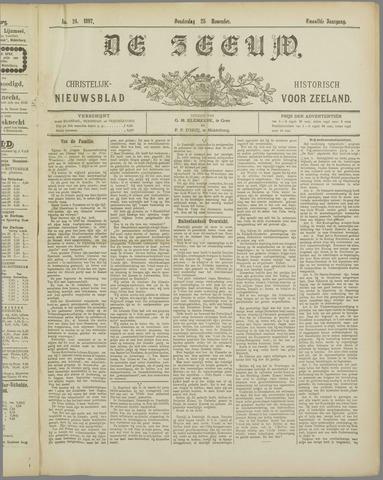 De Zeeuw. Christelijk-historisch nieuwsblad voor Zeeland 1897-11-25