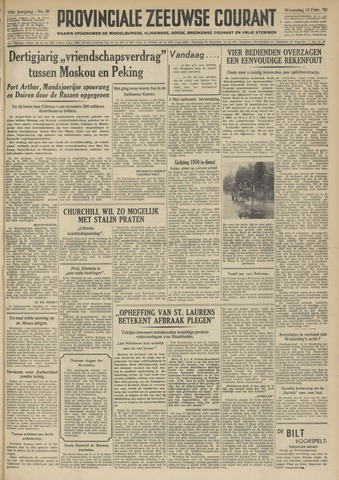 Provinciale Zeeuwse Courant 1950-02-15