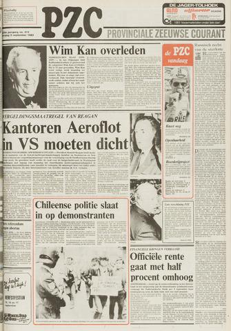 Provinciale Zeeuwse Courant 1983-09-09