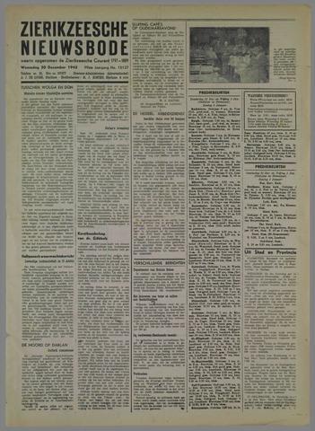 Zierikzeesche Nieuwsbode 1942-12-30