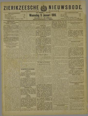 Zierikzeesche Nieuwsbode 1916-01-05