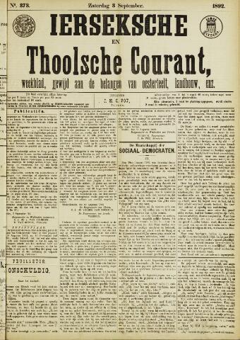 Ierseksche en Thoolsche Courant 1892-09-03