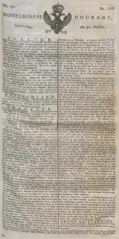 Middelburgsche Courant 1776-10-31