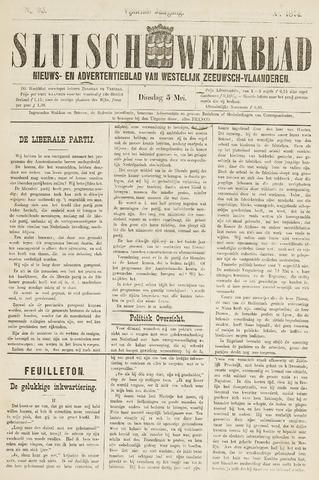 Sluisch Weekblad. Nieuws- en advertentieblad voor Westelijk Zeeuwsch-Vlaanderen 1874-05-05