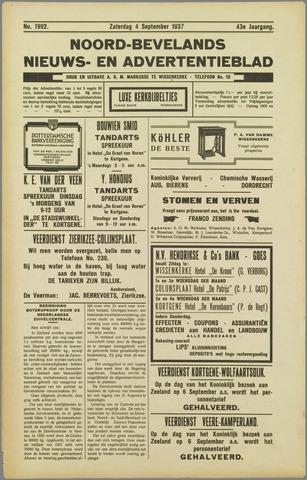 Noord-Bevelands Nieuws- en advertentieblad 1937-09-04