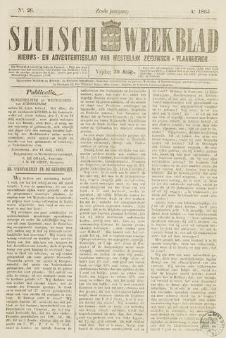 Sluisch Weekblad. Nieuws- en advertentieblad voor Westelijk Zeeuwsch-Vlaanderen 1865-06-30