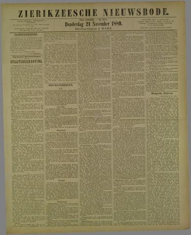 Zierikzeesche Nieuwsbode 1889-11-21