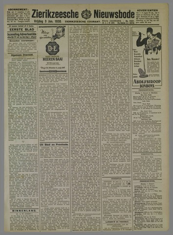 Zierikzeesche Nieuwsbode 1930-01-03