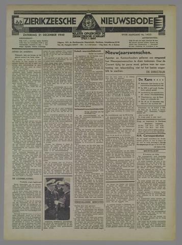Zierikzeesche Nieuwsbode 1940-12-21