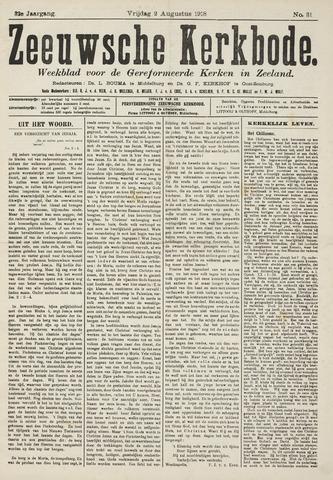 Zeeuwsche kerkbode, weekblad gewijd aan de belangen der gereformeerde kerken/ Zeeuwsch kerkblad 1918-08-02