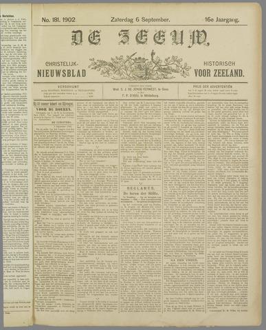 De Zeeuw. Christelijk-historisch nieuwsblad voor Zeeland 1902-09-06