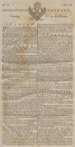 Middelburgsche Courant 1776-02-03