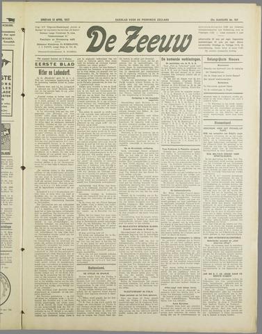 De Zeeuw. Christelijk-historisch nieuwsblad voor Zeeland 1937-04-13