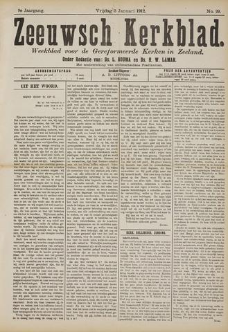 Zeeuwsche kerkbode, weekblad gewijd aan de belangen der gereformeerde kerken/ Zeeuwsch kerkblad 1912