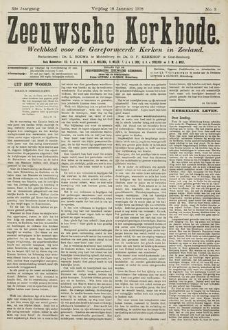 Zeeuwsche kerkbode, weekblad gewijd aan de belangen der gereformeerde kerken/ Zeeuwsch kerkblad 1918-01-18