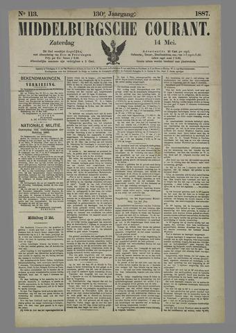Middelburgsche Courant 1887-05-14