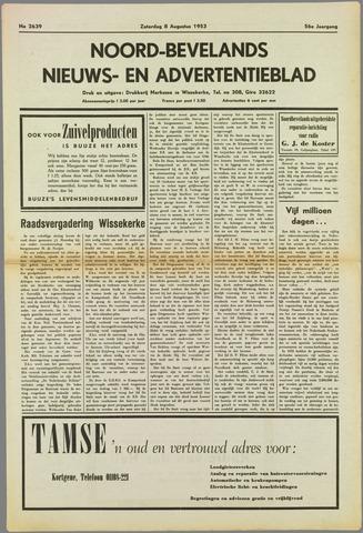 Noord-Bevelands Nieuws- en advertentieblad 1953-08-08
