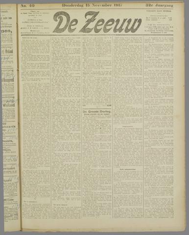 De Zeeuw. Christelijk-historisch nieuwsblad voor Zeeland 1917-11-15