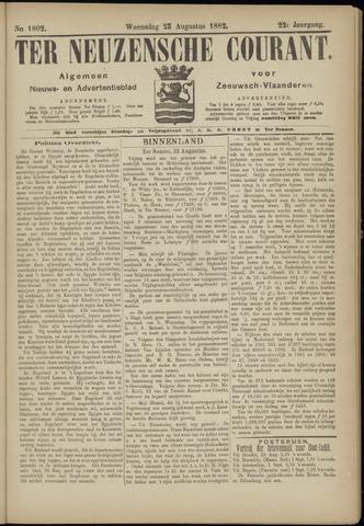 Ter Neuzensche Courant. Algemeen Nieuws- en Advertentieblad voor Zeeuwsch-Vlaanderen / Neuzensche Courant ... (idem) / (Algemeen) nieuws en advertentieblad voor Zeeuwsch-Vlaanderen 1882-08-23