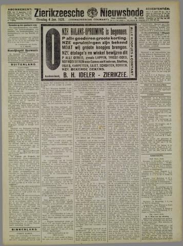 Zierikzeesche Nieuwsbode 1921-01-04