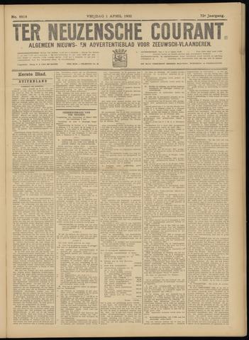 Ter Neuzensche Courant. Algemeen Nieuws- en Advertentieblad voor Zeeuwsch-Vlaanderen / Neuzensche Courant ... (idem) / (Algemeen) nieuws en advertentieblad voor Zeeuwsch-Vlaanderen 1932-04-01