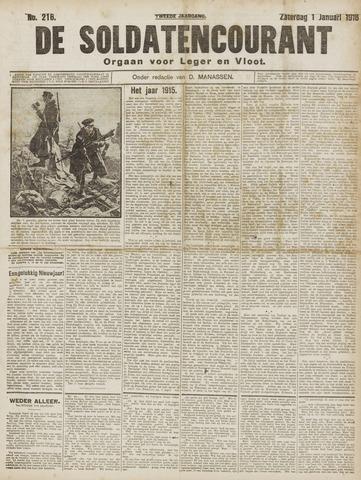 De Soldatencourant. Orgaan voor Leger en Vloot 1916-01-02