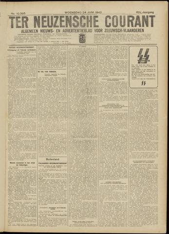 Ter Neuzensche Courant. Algemeen Nieuws- en Advertentieblad voor Zeeuwsch-Vlaanderen / Neuzensche Courant ... (idem) / (Algemeen) nieuws en advertentieblad voor Zeeuwsch-Vlaanderen 1942-06-24