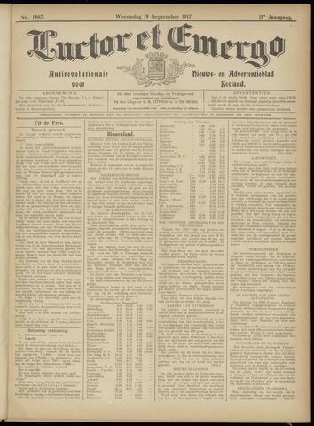 Luctor et Emergo. Antirevolutionair nieuws- en advertentieblad voor Zeeland / Zeeuwsch-Vlaanderen. Orgaan ter verspreiding van de christelijke beginselen in Zeeuwsch-Vlaanderen 1917-09-19