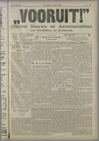 """""""Vooruit!""""Officieel Nieuws- en Advertentieblad voor Overflakkee en Goedereede 1905-06-07"""