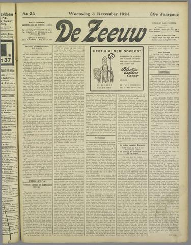 De Zeeuw. Christelijk-historisch nieuwsblad voor Zeeland 1924-12-03