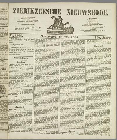 Zierikzeesche Nieuwsbode 1854-05-25