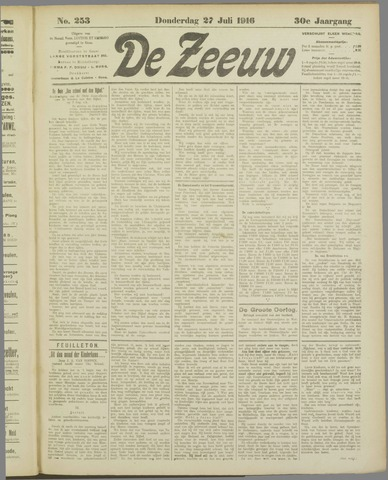 De Zeeuw. Christelijk-historisch nieuwsblad voor Zeeland 1916-07-27