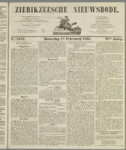Zierikzeesche Nieuwsbode 1865-02-18